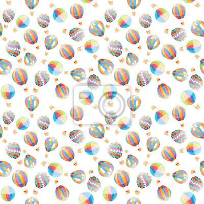 Aquarell Luftballons Schütteln Muster Hintergrund