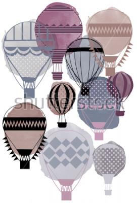 Poster Aquarell Vektor Luftballons
