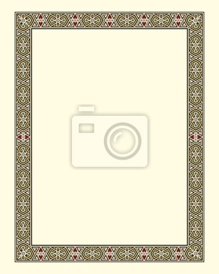 Arabeske Grenze Rahmen Vektor-Illustration-Datei