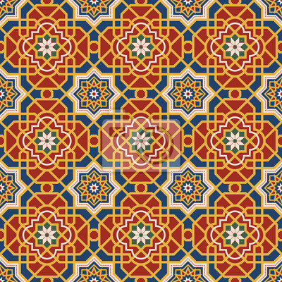 Arabesque nahtlose Muster in editierbare Vektor-Datei