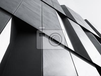 Poster Architektur Detail Fassade Design Modernes Gebäude Schwarz und Weiß