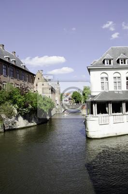 Architektur und Farben von Brügge