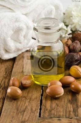 Argan-Öl mit Früchten