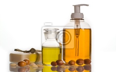 Argan-Öl und Kosmetik-Produkt