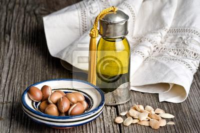 Argan-Öl und Obst
