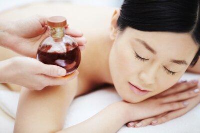 Poster Aromaöl zur Massage