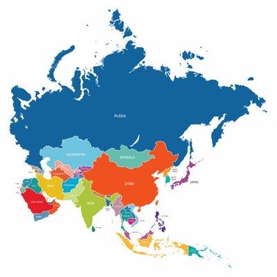 Poster Asien-Karte
