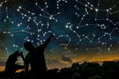 Poster Astrologie-Konzept.