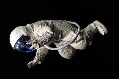 Poster Astronaut auf schwarzem Hintergrund