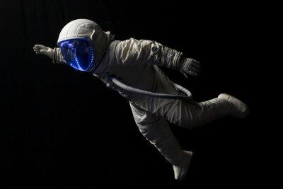 Poster Astronaut im Raummission in den dunklen und Raum