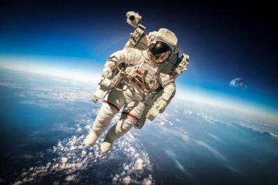 Poster Astronaut im Weltraum
