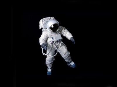 Poster Astronaut schwimmt vor einem schwarzen Hintergrund.