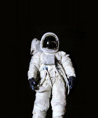 Poster Astronaut vor einem schwarzen Hintergrund