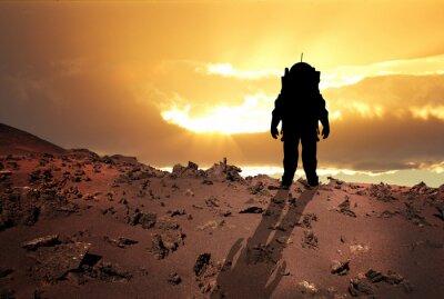 Poster Astronaut zum Mars