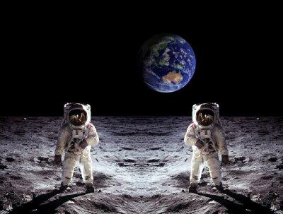 Poster Astronauten Mond-Landung Erde