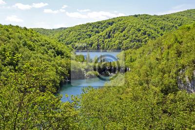 Atemberaubende Aussicht in den Nationalpark Plitvicer Seen, Kroatien (
