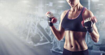 Poster Athletisches Mädchen