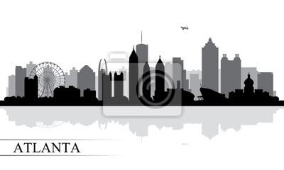 Atlanta Stadt Skyline Silhouette Hintergrund