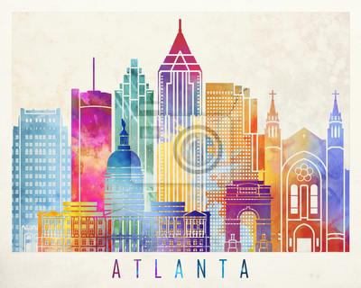 Atlanta Wahrzeichen Aquarell Poster