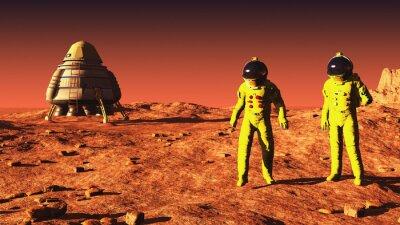 Poster auf dem Mars