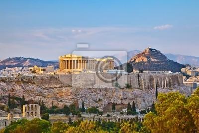 Auf der Akropolis bei Sonnenuntergang