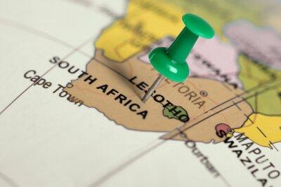 Poster Auf der Karte grün Pin.