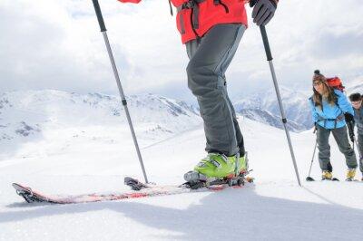 Poster auf Skitour unterwegs