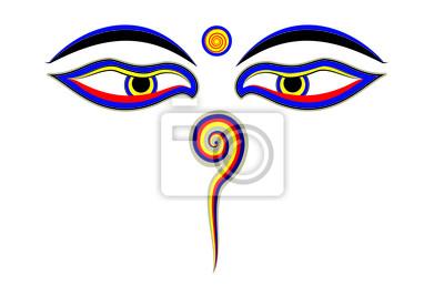 Augen von Buddha