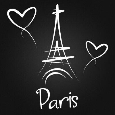 Poster Aus Paris mit Liebe