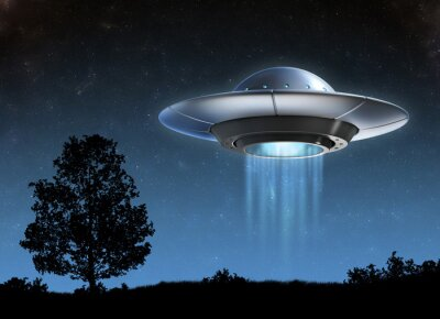 Poster Außerirdisches Raumschiff