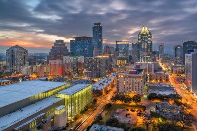 Poster Austin, Texas, USA Downtown Cityscape