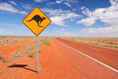 Poster Australian endlosen Straßen