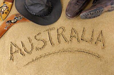 Poster Australien Hintergrund