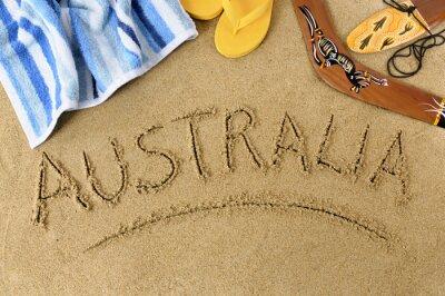Poster Australien Strand Hintergrund