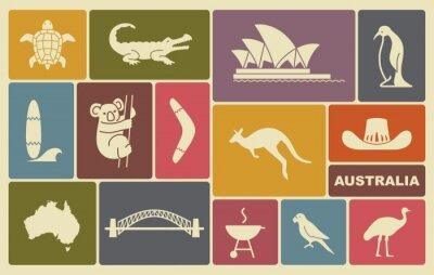 Poster Australische Ikonen