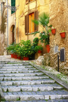 Poster Authentische mittelalterliche Dörfer Italiens - Casperia