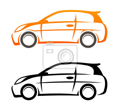 Auto-skizze wandposter • poster Hecktürmodell, autos, Skizzen ...