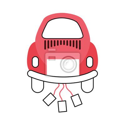 Auto von Jungvermählten Icon Vektor-Illustration Design
