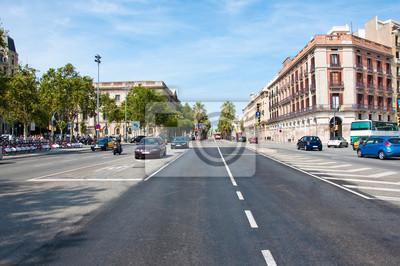 Autobahn-Verkehr. Barcelona.