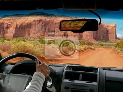 Autofahren in Monument Valley, USA