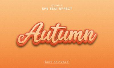 Poster Autumn 3d Editable Text Effect Template