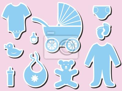 Baby-Dusche-Symbole
