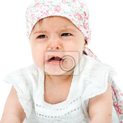 Baby mit traurigen Gesichtsausdruck.