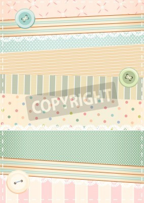 Poster background in shabby chic style