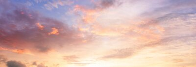 Poster Background of colorful sky concept: Dramatic sunset with twilight color sky and clouds