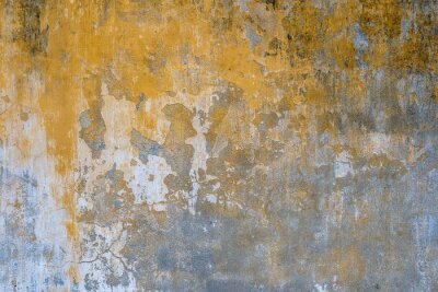 Poster Background of old yellow painted wall texture