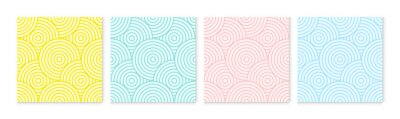 Poster Background pattern seamless circle abstract colorful pastel colors. Summer background design.