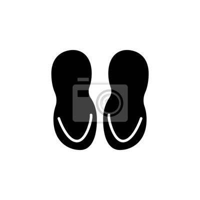 Poster: Badezimmer hausschuhe symbol. badezimmer und sauna elementsymbol.