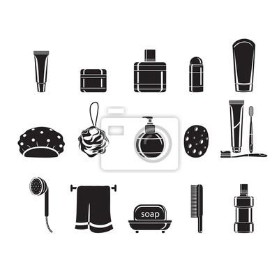 Badezimmer stoffe, einfarbig, gesund, hygiene, sauberkeit, produkt ...