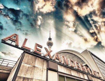 Poster Bahnhof Alexanderplatz in Berlin - Deutschland